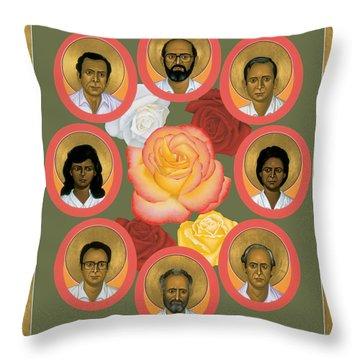 Martyrs Of The Jesuit University - Rlmju Throw Pillow