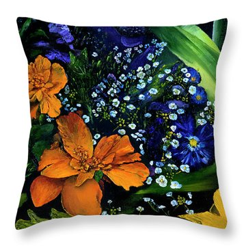 Marty's Gift Basket Throw Pillow
