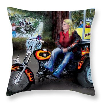 Marty's Harley Throw Pillow