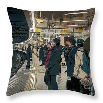 Marunouchi Line, Tokyo Metro Japan Poster 2 Throw Pillow