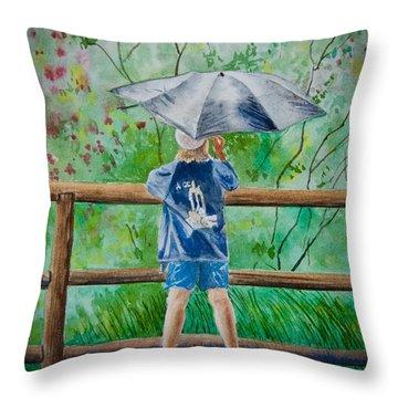Marcus' Umbrella Throw Pillow