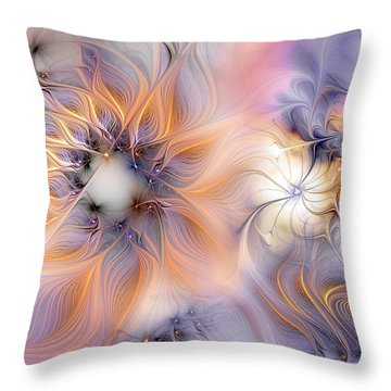 Throw Pillow featuring the digital art Marvel by Casey Kotas