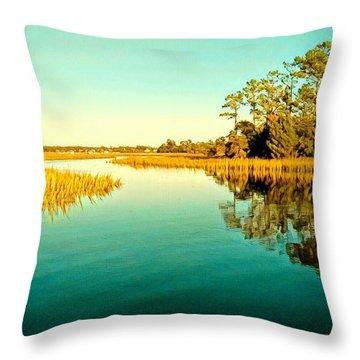 Marvelous Marsh Throw Pillow