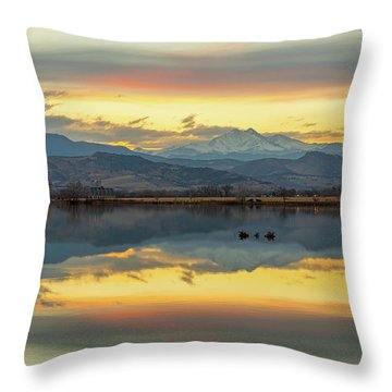 Throw Pillow featuring the photograph Marvelous Mccall Lake Reflections by James BO Insogna