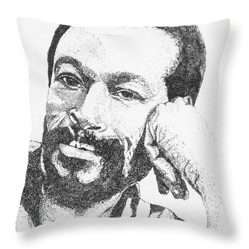 Marvin Gaye  Throw Pillow