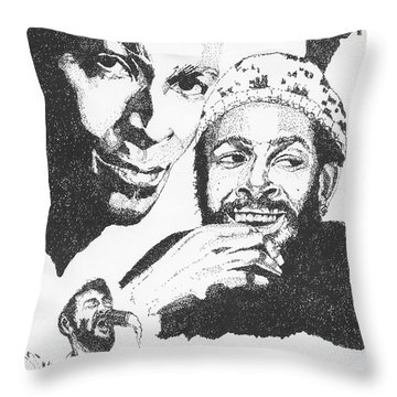 Marvin Gaye Tribute Throw Pillow