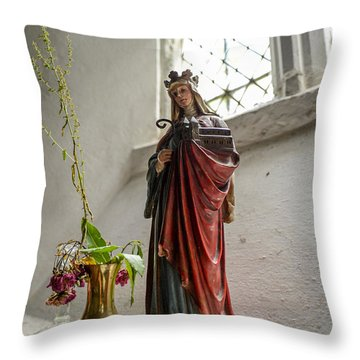 Our Blessed Lady At St Margaret Of Antioch Throw Pillow
