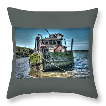 Mary D. Hume Shipwreak Throw Pillow by Thom Zehrfeld