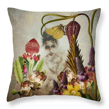 Mary Mary Quite Contrary Throw Pillow