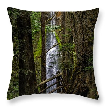 Mary Mere Throw Pillow by Alana Thrower