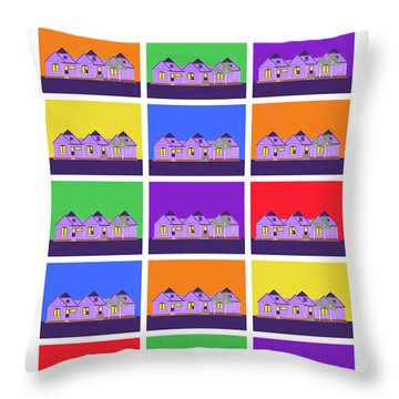 Mary Montage Throw Pillow