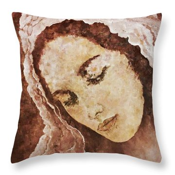 Mary Mother Of Jesus Throw Pillow
