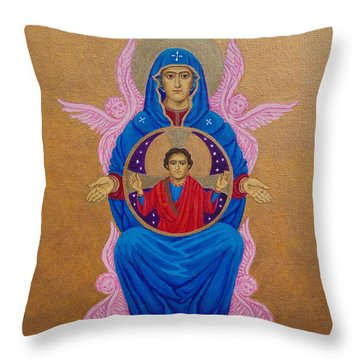 Mary Mother Of Mercy Icon - Jubilee Year Of Mercy Throw Pillow