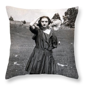 Throw Pillow featuring the photograph Mary Neal 01 by Rick Baldwin