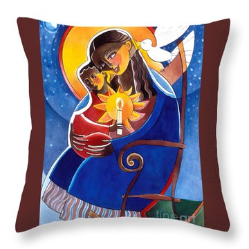 Mary, Seat Of Wisdom - Mmwis Throw Pillow