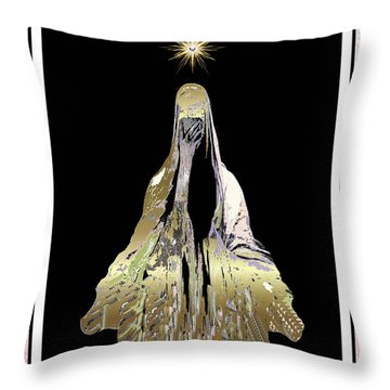 Mary Wept Throw Pillow