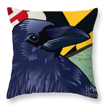 Maryland Citizen Raven Throw Pillow