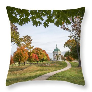 Maryland Monument At Antietam Throw Pillow