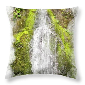 Marymere Falls Wc Throw Pillow by Peter J Sucy