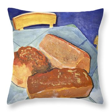 Mary's Bread Throw Pillow