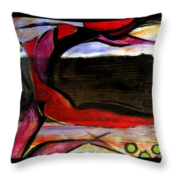 Throw Pillow featuring the painting Mary's Garden by Delight Worthyn