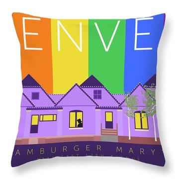 Mary's Rainbow Throw Pillow