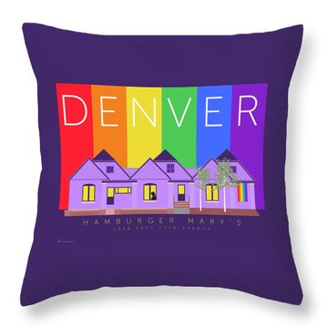 Mary's Rainbow Throw Pillow