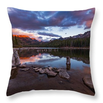 Mary's Reflection Throw Pillow