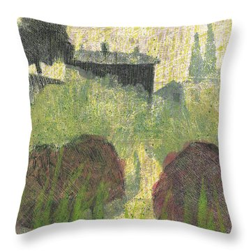 Throw Pillow featuring the painting Mas En Provence by Martin Stankewitz