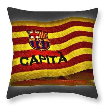 Throw Pillow featuring the photograph Mas Que Un Capitan ... by Juergen Weiss