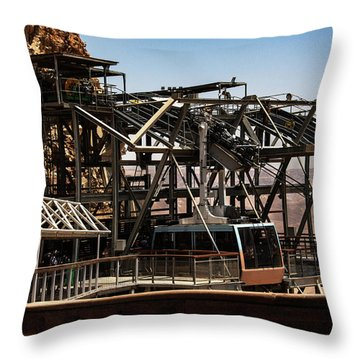 Throw Pillow featuring the photograph Masada Lift by Mae Wertz