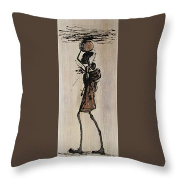 Masai Family - Part 1 Throw Pillow