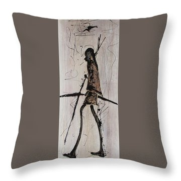 Masai Family - Part 2 Throw Pillow