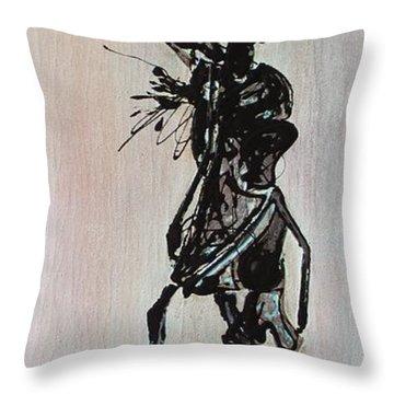 Masai Family - Part 3 Throw Pillow