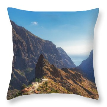 Masca Throw Pillow