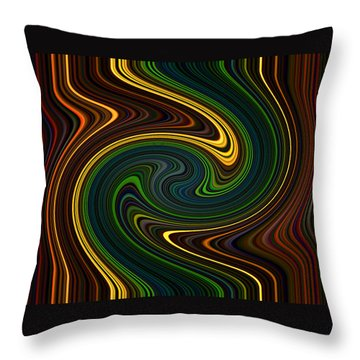 Masculine Waves Throw Pillow