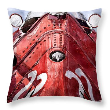 Maserati 250f Alien Throw Pillow by Yuriy  Shevchuk