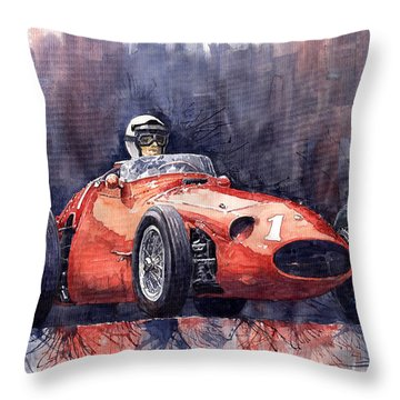 Maserati 250f Throw Pillow