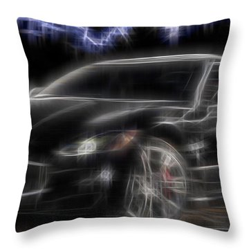 Throw Pillow featuring the digital art Maserati by Kenneth Armand Johnson