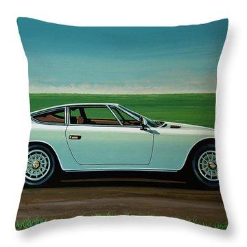 Maserati Khamsin 1974 Painting Throw Pillow