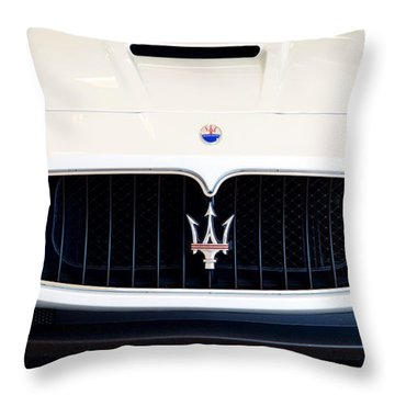Maserati White Pano 121715 Throw Pillow