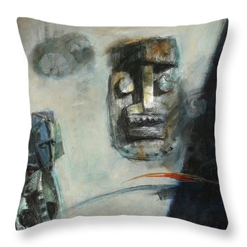 Symbol Mask Painting -02 Throw Pillow