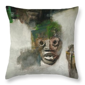 Symbol Mask Painting - 06 Throw Pillow