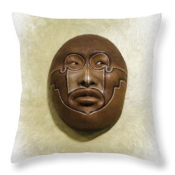 Mask 2 Throw Pillow