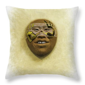 Mask 5 Throw Pillow
