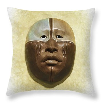 Mask 6 Throw Pillow