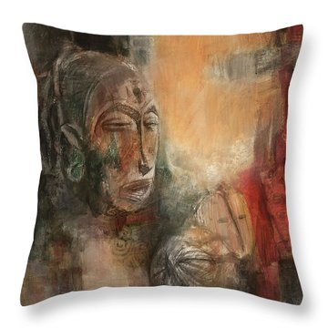 Symbol Mask Painting - 08 Throw Pillow