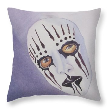 Throw Pillow featuring the painting Mask I by Teresa Beyer