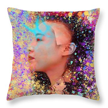 Mask Of Impressionism Throw Pillow by Matthew Lacey