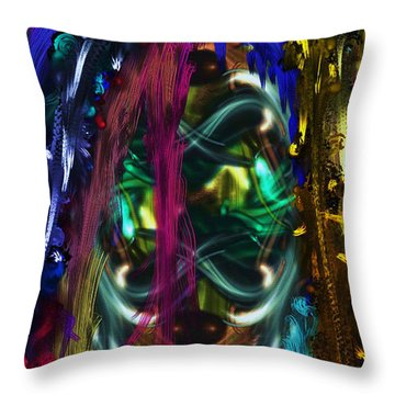 Mask Of The Spirit Guide Throw Pillow
